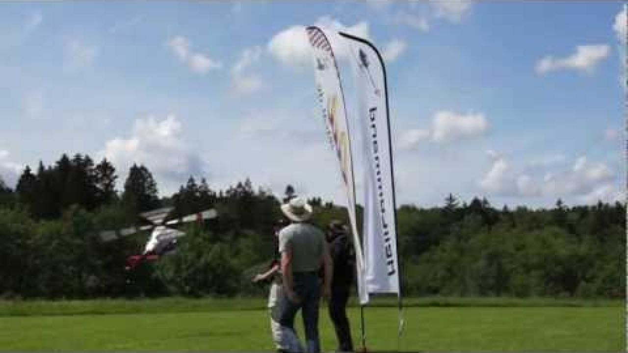 Bell 430 RC Helicopter Formation Flight with 4 Helicopters