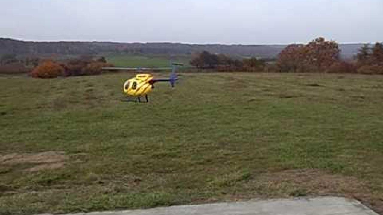 Hughes 500D Crash wegen Regler Ausfall